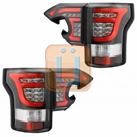 2015-2017 FORD F150 Black LED Taillights w/ Red Tube Bar