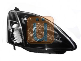 JDM Style Headlight For 2002-2005 Honda Civic Hatchback - Black / Chrome