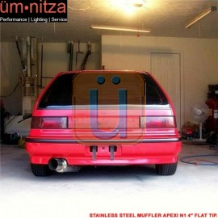 Fits 85-98 Buick Skylark Stainless Steel Muffler Apexi N1 4 Inch Flat Tip