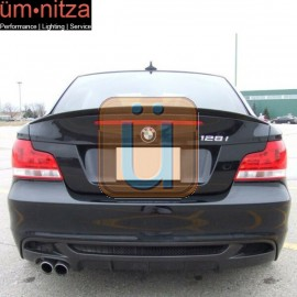 Fits 07-11 Fit BMW E82 1 Series Performance Trunk Spoiler - ABS Painted Matte Black