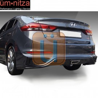 Fits 17-18 Hyundai Elantra SPW Style Rear Bumper Diffuser Lip PP