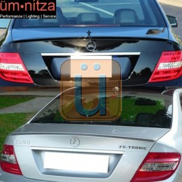 Fits 08-14 Benz W204 C Class AMG Trunk Spoiler Painted #755 Steel Gray Metallic