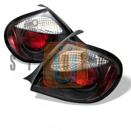 2003-2005 Dodge Neon Chrome Housing Tail Lights