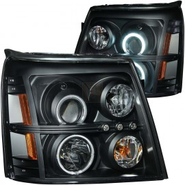 Cadillac Escalade/Escalade ESV Clear/Amber Projector LED Orion Halos Headlight Set (sold in pairs)