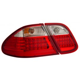 CLK 320 430 W208 98-03 LED TAIL LIGHT RED/CLEAR NEW