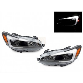 "2015-2017 Subaru Impreza WRX STi ""C"" Bar Projector Black Headlight"