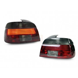 2001-2003 Fit BMW E39 5 Series 4D Sedan DEPO Red/Smoke or All Smoke LED Tail Light