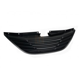 BLACK FRONT UPPER BADGELESS SPORT GRILLE FOR 11-14 HYUNDAI SONATA