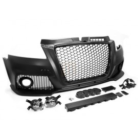 09-13 AUDI A3 8P FACELIFT RS3 STYLE FRONT BUMPER CONVERSION KIT W/ FOG LIGHTS