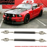 Carbon Fiber Adjustable 5.5-8 Inch Bumper Chin Lip Diffuser Rod Splitter Support