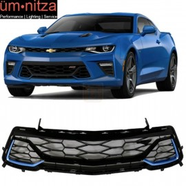 Fit 16-19 Camaro 50th Anniversary Front Grille Painted Blue Me Away Metallic