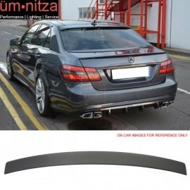Fits 10-16 Benz W212 Sedan E-Class Painted Matte Black Roof Spoiler Wing - ABS