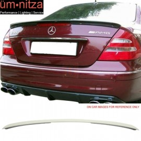 Fits 03-09 Benz E-Class W211 Sedan AMG Trunk Spoiler Painted #650 Cirrus White