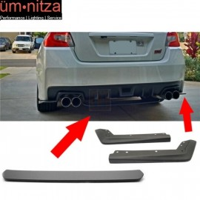 Fits 15-18 Subaru WRX STI 2 Piece Rear Aprons + Rear Diffuser ABS