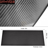 Carbon Fiber (CF) Sheet Plate Panel 3K Plain Weave 0.2mm (12 X 39.2 Inches)