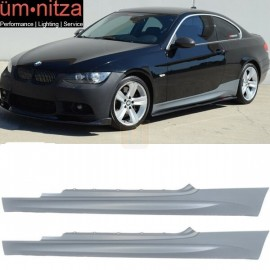 Fits 07-13 Fit BMW E92 E93 3-Series 2Dr M3 Style Side Skirts Extension Panels Pair