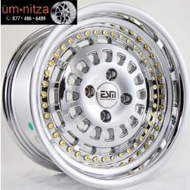 ESM 15X8  015 Rims 4X100mm +20 Chrome Wheels Fits Carrado Del So Civic Crx Fox