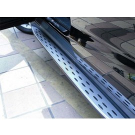 2012-2014 Mercedes M Class W166 AlumInum RunnIng Board Side Step Nerf Bar With Rubber Insert Set