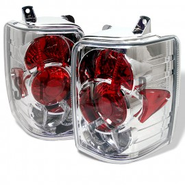 1993-1998 Jeep Grand Cherokee Chrome Housing Tail Lights