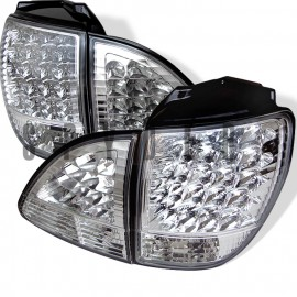 1998-2000 Lexus RX300 Chrome Housing LED Tail Lights