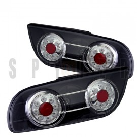 1989-1994 Nissan 240SX Hatchback Black Housing Tail Lights