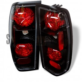 1998-2000 Nissan Frontier Black Housing Tail Lights
