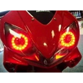 HONDA CBR600RR 03-06 HYPER LED HALOS QUAD KIT