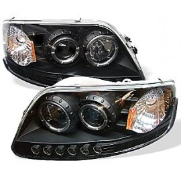 Ford F150 Projector Headlights Dual LED Halos 97-03