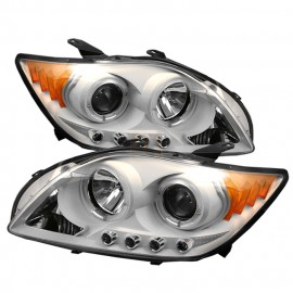 2004-2006 Scion tC White Housing Dual Halo Angel Eyes LED Projec