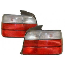 BMW E36 Rear Tail Lights Red/Clear